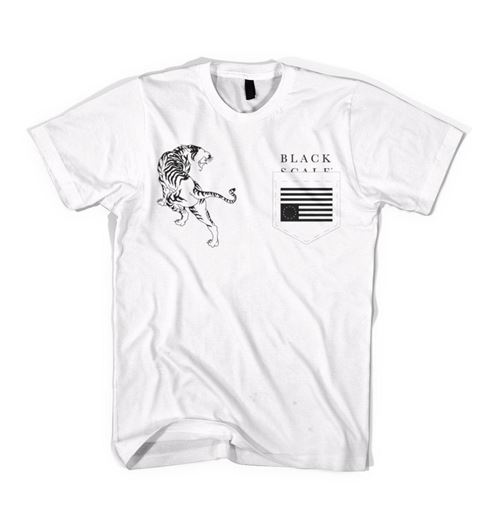 Picture of TIGER REBEL POCKET Tee White