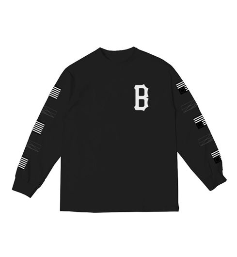 Picture of REPEAT REBEL LONG SLEEVE Tee Black