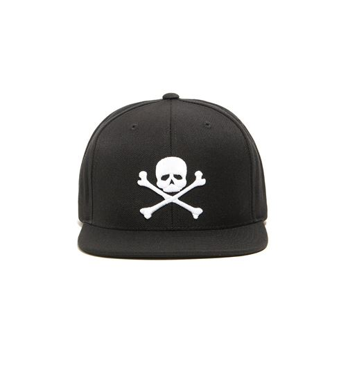 Picture of SKULL & BONES SNAP BACK HAT Black