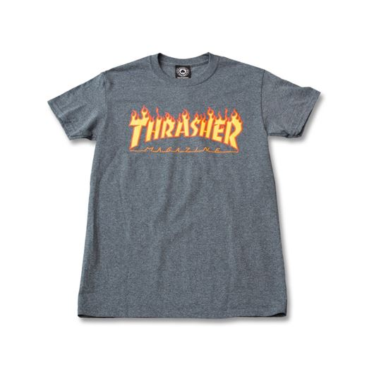 Picture of Flame tee Dark heather yellow