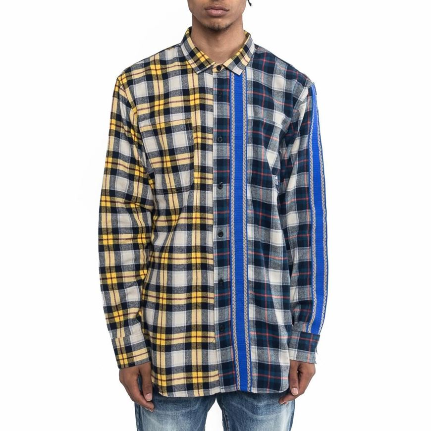 Picture of TRI TONE FLANNEL Navy