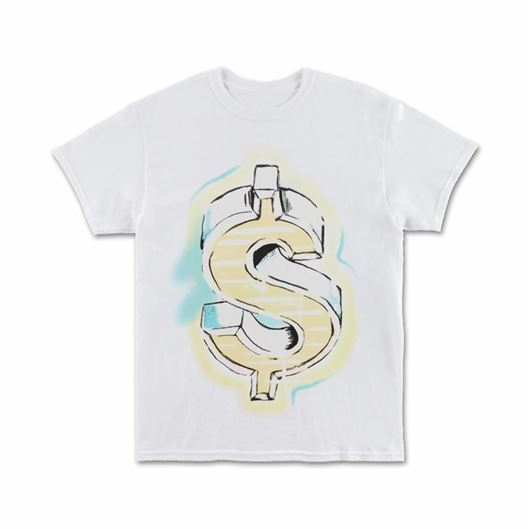 Picture of GHETTO MONEY - S/S White