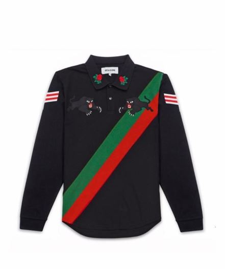 Picture of L/S Panther Rugby Black