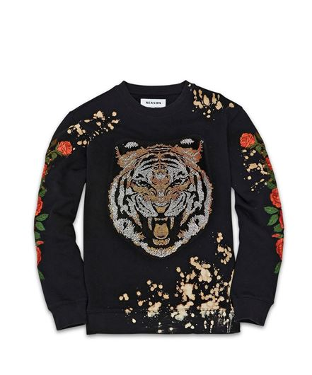 Picture of Primal Rhinestone Crewneck Black