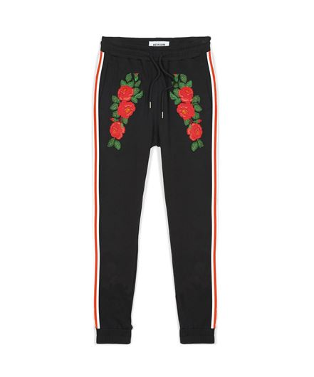 Picture of Roses Joggers Black