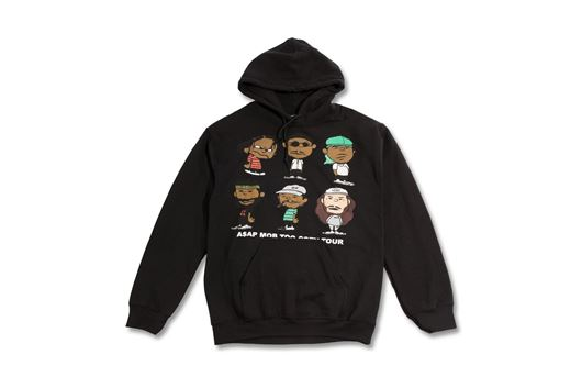 Picture of A$AP MOB GRAPHIC - PULLOVER HOODIE Black