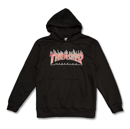 Picture of FLAME PULLOVER Black/Red