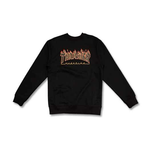 Picture of FLAME CREWNECK Black/Black