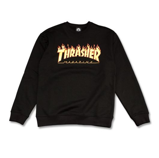 Picture of FLAME CREWNECK Black/Yellow