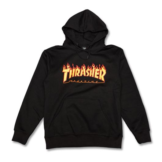 Picture of FLAME HOODED Black