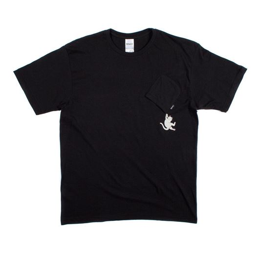 Picture of Hang In There Nermal Pocket Tee Black