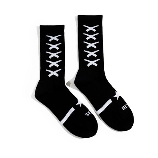 Picture of Cross Repeat Sock Black
