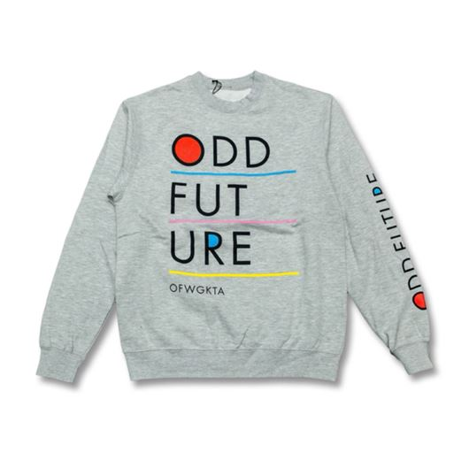 Picture of RED ODD BLUE R UNDERLINED LOGO CREW Heather Grey