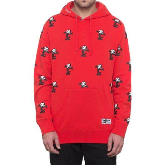 Picture of FELIX ALLOVER PRINT P/O HOODIE Red