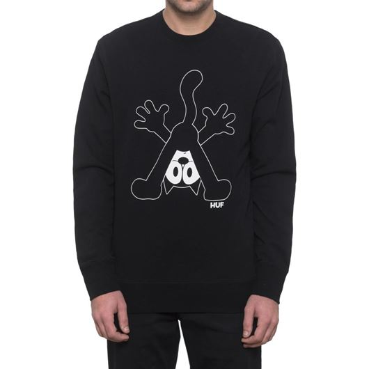Picture of FELIX CREW NECK FLEECE Black