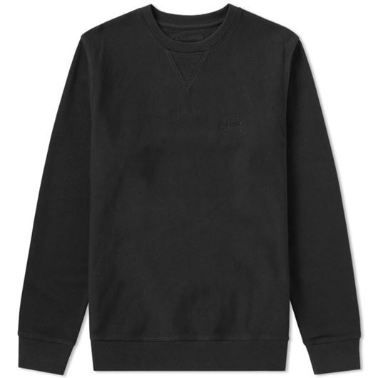 Picture of STOCK LS TERRY CREW Black