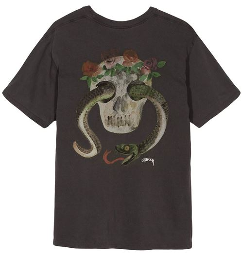 Picture of CALAVERA PIG. DYED PKT TEE Black
