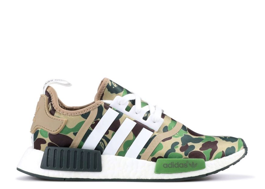hot sale online f53f7 fea3c BAPE x Adidas NMD Green Used