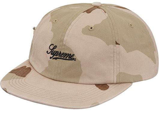 Picture of Supreme Side Pocket Script Logo 6-Panel Desert Camo