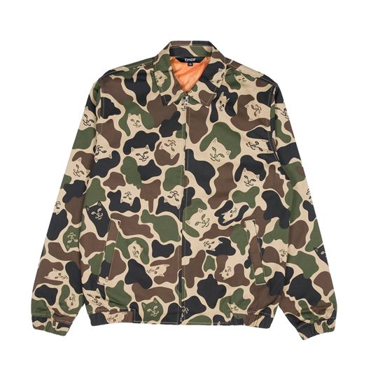 Picture of Nermal Camo Cotton Coach Jacket Army Camo
