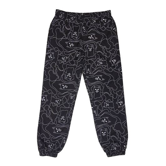 Picture of Nermal 3M Line Camo Swishy Pants Black 3M