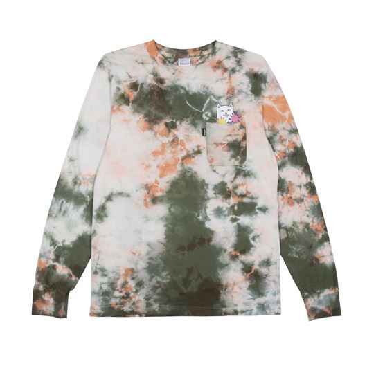 Picture of Flowers For Bae L/S Green/Pink Acid Wash