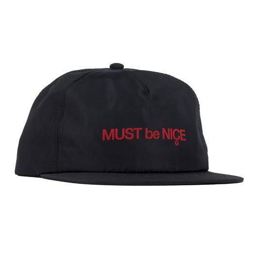 Picture of MBN Script Puff Print Nylon Strapback Black