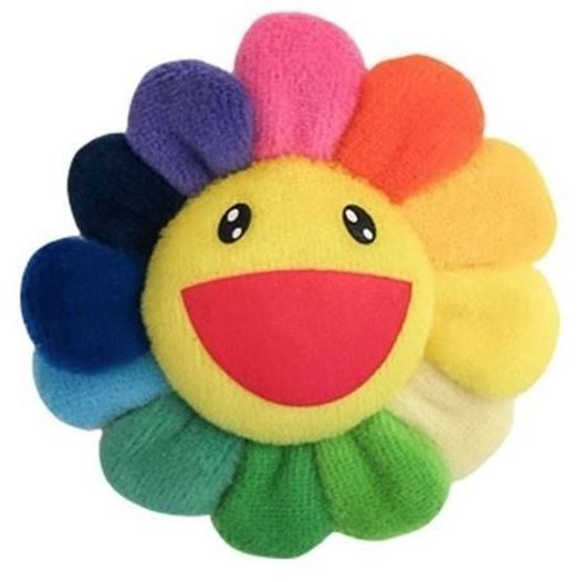 Picture of Takashi Murakami Rainbow Flower Plush Pin