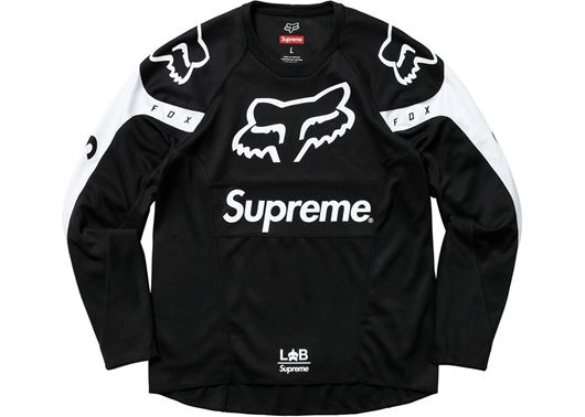 Picture of Supreme Fox Racing Moto Jersey Top Black