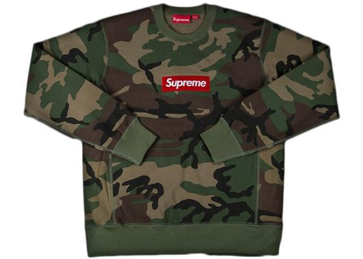 Picture of Supreme Box Logo Crewneck Camo(USED)