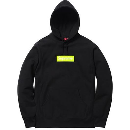 Picture of Supreme Box Logo Hooded Sweatshirt (FW17) Black