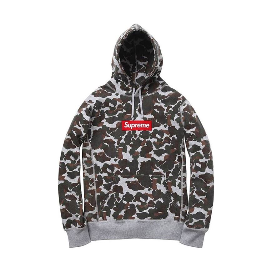 online store 62cd6 c144e Picture of Supreme Box Logo Hoodie Duck Camo(USED)