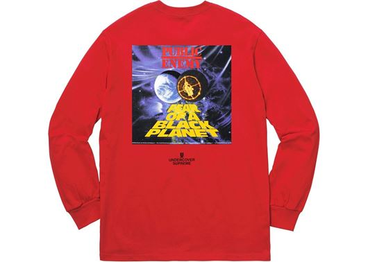 Picture of Supreme UNDERCOVER/Public Enemy Counterattack L/S Tee Red