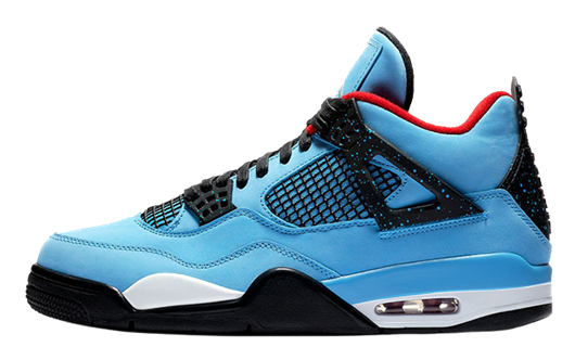Picture of Jordan 4 Retro Travis Scott Cactus Jack Blue