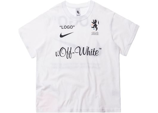Picture of Nikelab x OFF-WHITE Mercurial NRG X  Tee White