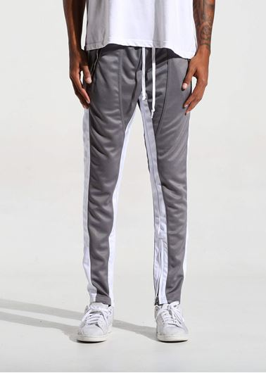 Picture of FB TRACK PANTS DARK SILVER/WHITE