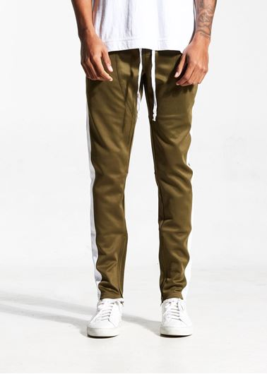 Picture of FB TRACK PANTS DARK OLIVE/WHITE