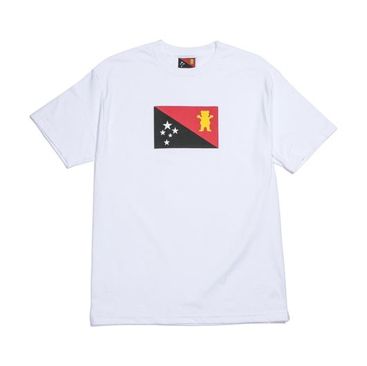 Picture of BLVCK GRIZZLY FLAG Tee White