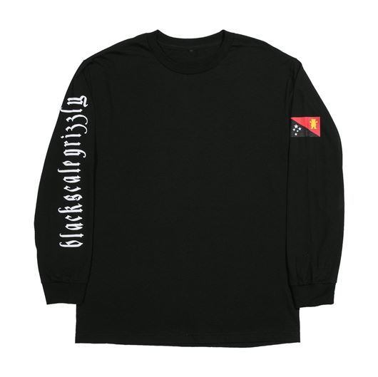 Picture of BLVCK GRIZZLY FLAG L/S TEE Black