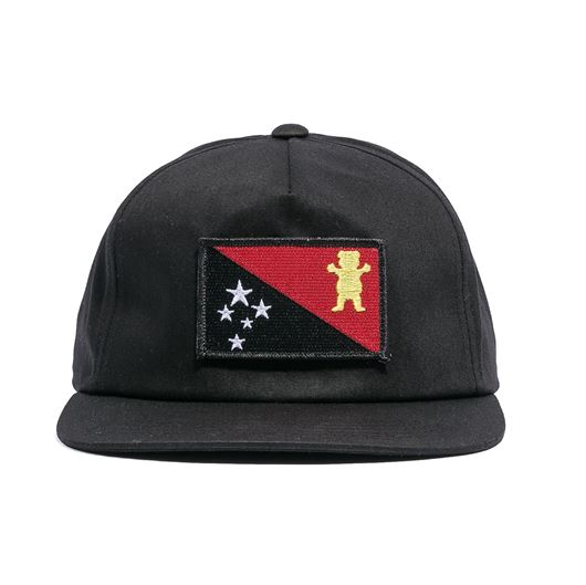 Picture of BLVCK GRIZZLY FLAG SNAPBACK  Black