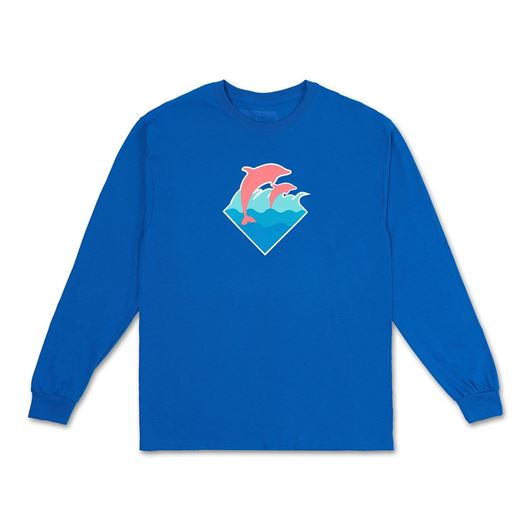 Picture of WAVE PUFF PRINT L/S TEE Blue