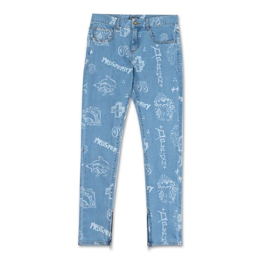 Picture of SCRIBBLES DENIM Blue