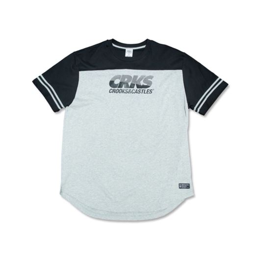 Picture of CROOKSTECH Tee Black/Heather Grey