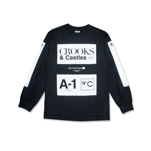 Picture of A1 L/S Tee Black