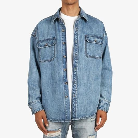 Picture of Denim Work Shirt Blue