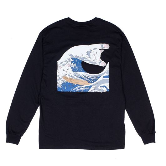 Picture of Great Wave L/S Tee Black