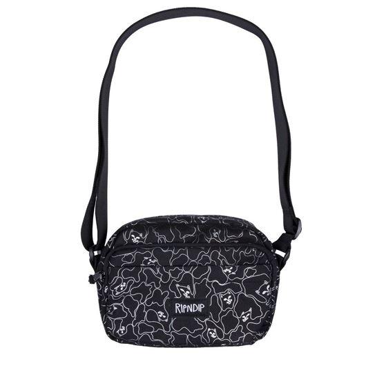 Picture of Nermal 3M Line Camo Shoulder Bag Black