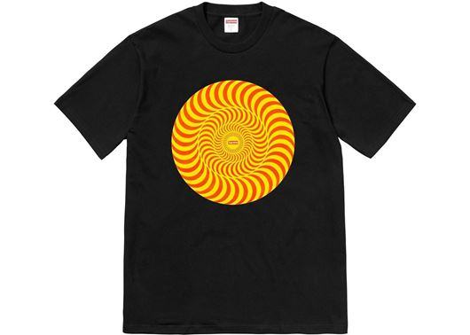 Picture of Supreme Spitfire Classic Swirl T-Shirt Black