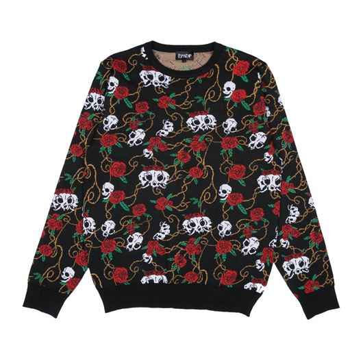 Picture of Dead Rose Knit Sweater Black