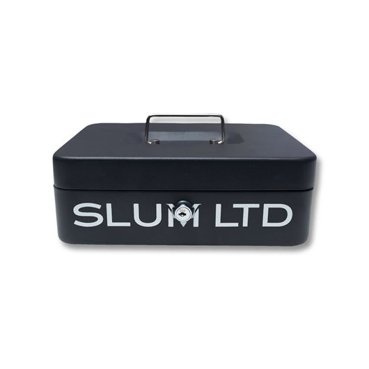 Picture of Luxy Font Metal Cash Box Black